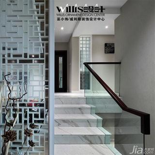 巫小伟中式风格跃层富裕型140平米以上楼梯装修图片