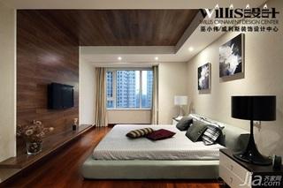 巫小伟中式风格跃层富裕型140平米以上卧室吊顶床效果图