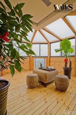 巫小伟中式风格复式富裕型140平米以上阳光房沙发效果图