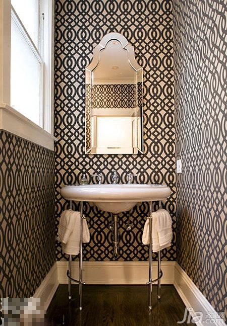 混搭风格小户型富裕型卫生间背景墙洗手台效果图
