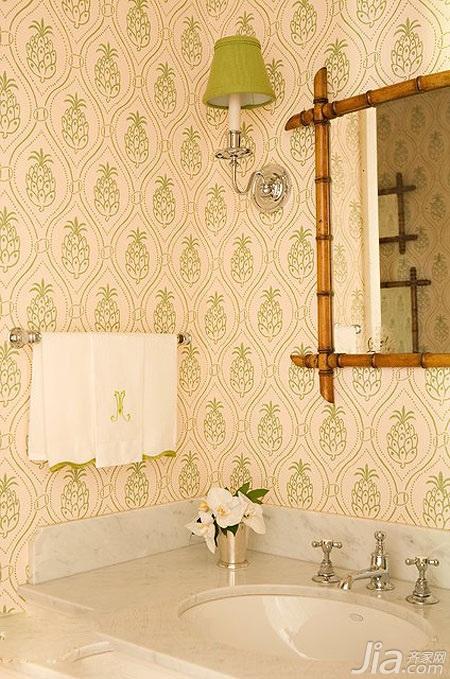 混搭风格小户型富裕型卫生间背景墙洗手台图片