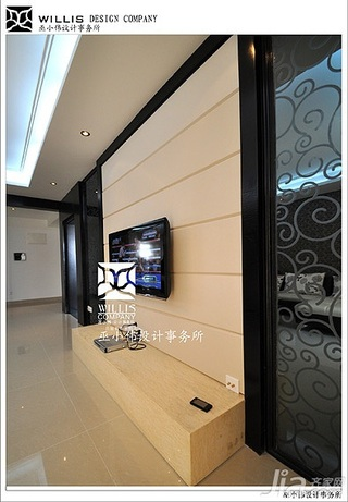 巫小伟简约风格公寓经济型140平米以上客厅电视背景墙电视柜效果图
