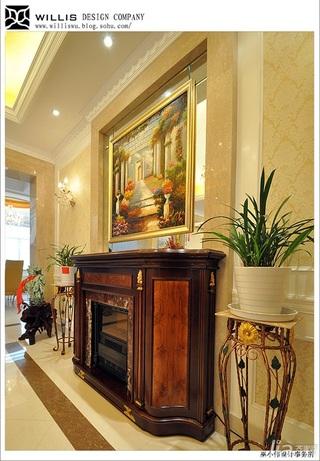 巫小伟欧式风格别墅豪华型140平米以上门厅鞋柜效果图