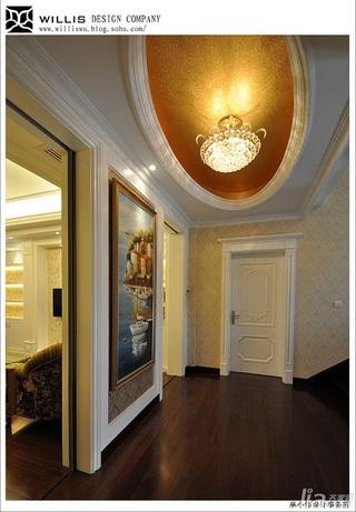 巫小伟欧式风格别墅奢华豪华型140平米以上过道灯具效果图