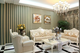 新古典风格别墅富裕型140平米以上客厅沙发背景墙沙发效果图