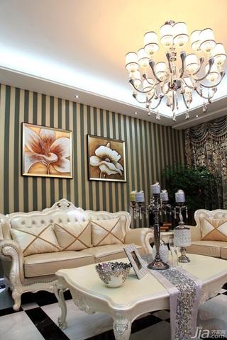 新古典风格别墅富裕型140平米以上客厅沙发背景墙茶几效果图