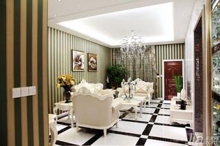 新古典风格别墅富裕型140平米以上客厅沙发背景墙效果图