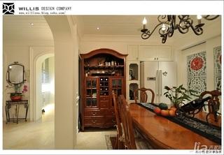 巫小伟地中海风格公寓浪漫富裕型130平米餐厅隔断餐桌效果图