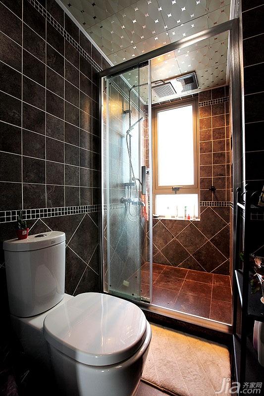 格二居室富裕型90平米卫生间装修图片高清图片