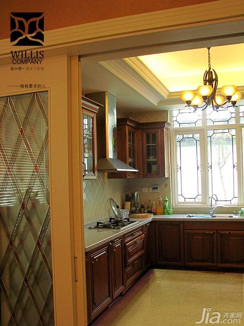巫小伟欧式风格别墅豪华型140平米以上厨房橱柜定做