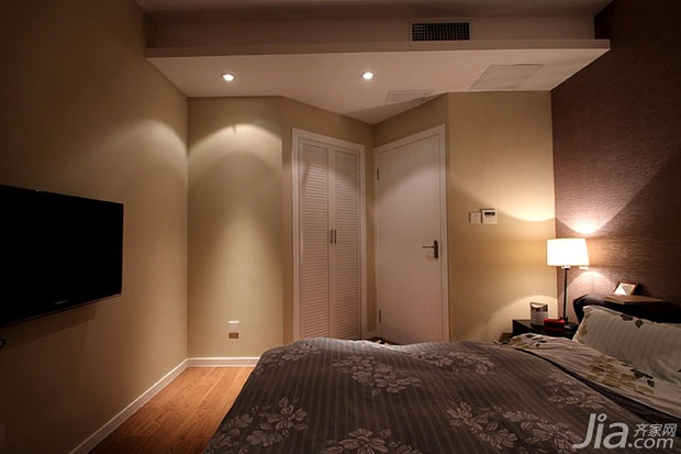 简约风格一居室富裕型90平米卧室婚房家装图片