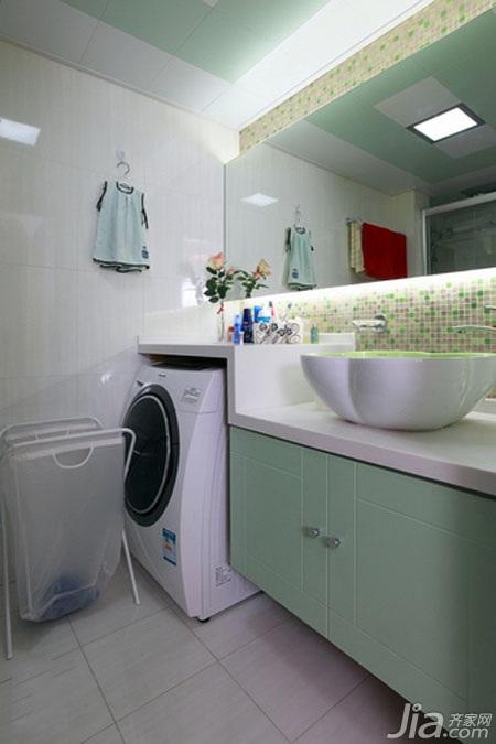 简约风格一居室经济型卫生间洗手台效果图