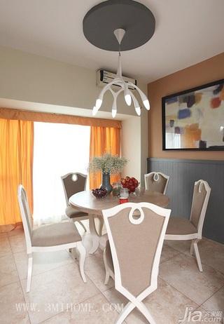 三米设计简约风格公寓经济型130平米餐厅餐桌婚房家装图片