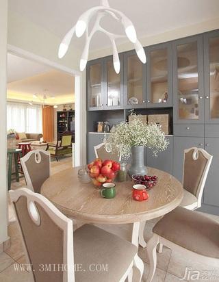 三米设计简约风格公寓经济型130平米餐厅餐桌婚房家装图