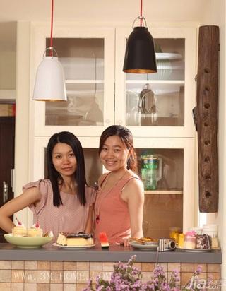 三米设计简约风格公寓经济型130平米厨房橱柜婚房家装图片