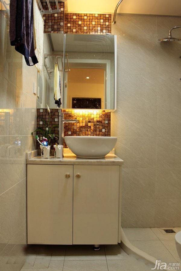 简约风格二居室经济型50平米卫生间洗手台效果图