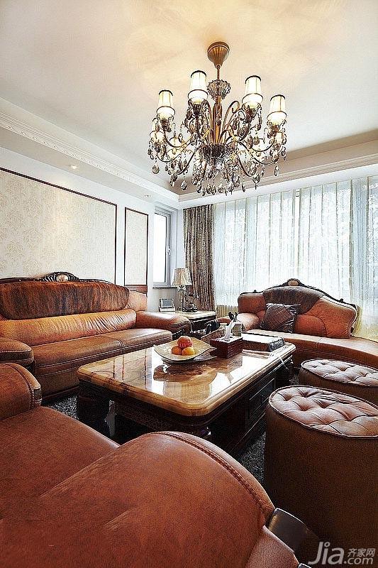 新古典风格别墅富裕型130平米客厅吊顶沙发图片