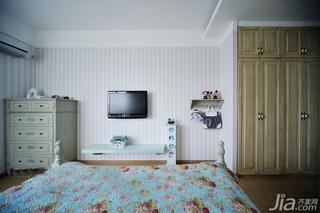 混搭风格三居室富裕型卧室卧室背景墙电视柜效果图