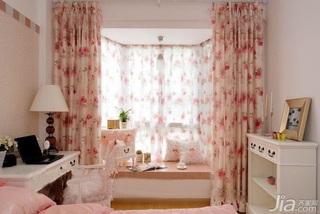 混搭风格二居室富裕型100平米卧室飘窗书桌效果图