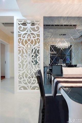 简约风格二居室富裕型90平米餐厅隔断设计
