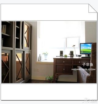 混搭风格公寓富裕型120平米书房飘窗书桌效果图