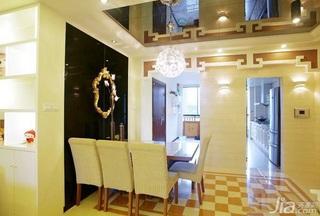 简约风格一居室富裕型90平米餐厅吊顶餐桌图片