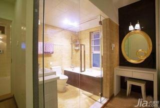 简约风格一居室富裕型90平米卫生间梳妆台图片