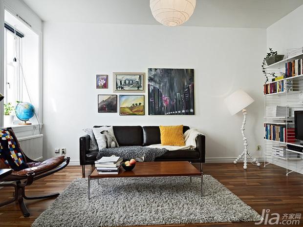 北欧风格一居室经济型客厅沙发图片