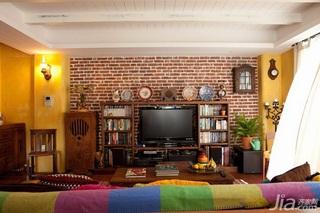 混搭风格二居室富裕型140平米以上客厅电视背景墙电视柜效果图