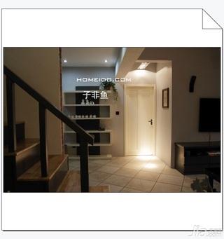 欧式风格小户型经济型60平米门厅楼梯电视柜效果图