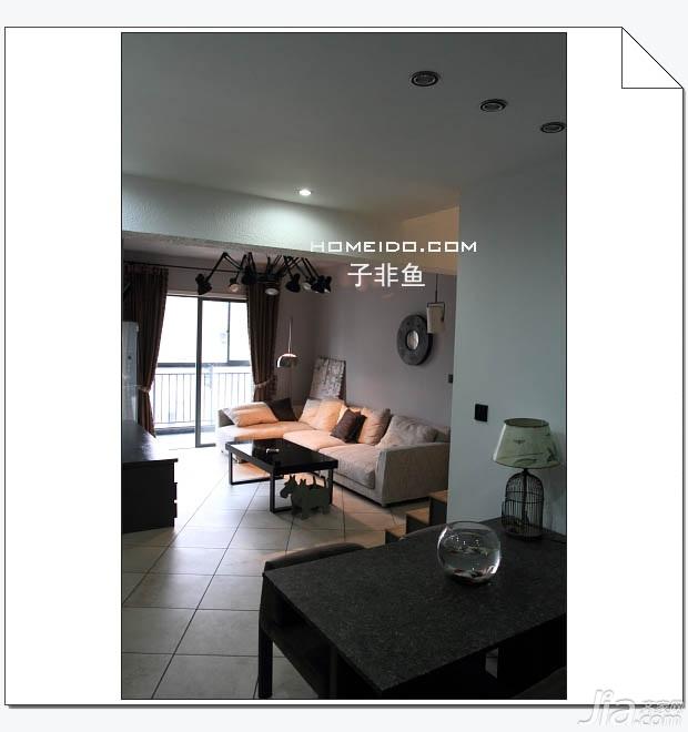 欧式风格小户型实用经济型60平米客厅沙发图片