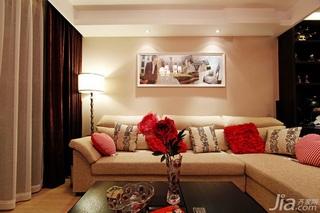 简约风格一居室经济型100平米客厅吊顶沙发婚房平面图