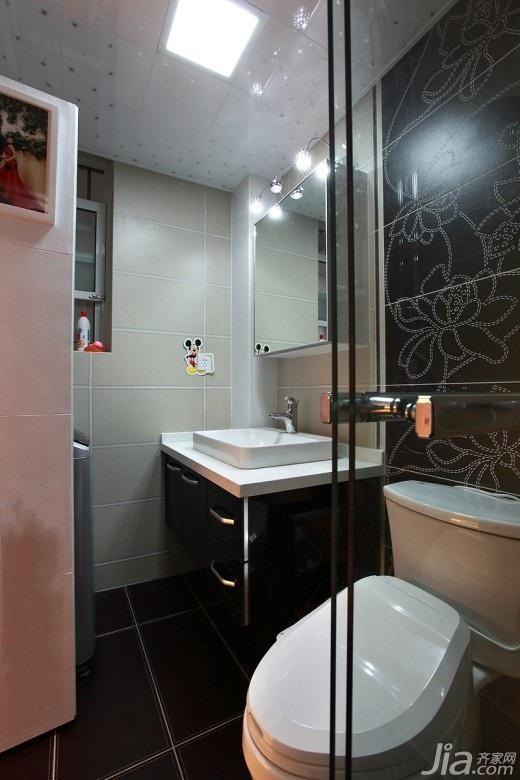 简约风格二居室经济型70平米卫生间洗手台效果图