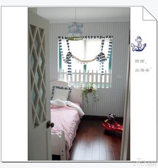 地中海风格公寓富裕型80平米卧室飘窗床效果图