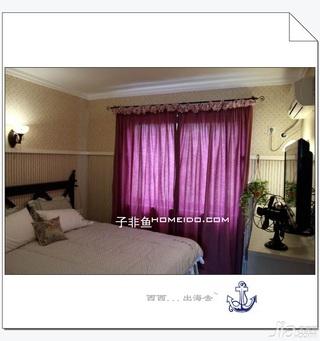 地中海风格公寓富裕型80平米卧室电视柜效果图