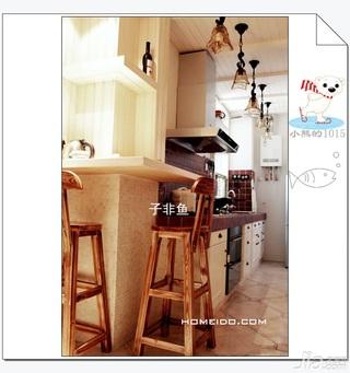混搭风格公寓经济型60平米厨房吧台吧台椅图片