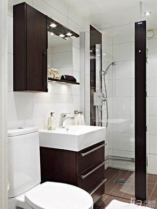 简约风格一居室经济型80平米卫生间洗手台效果图