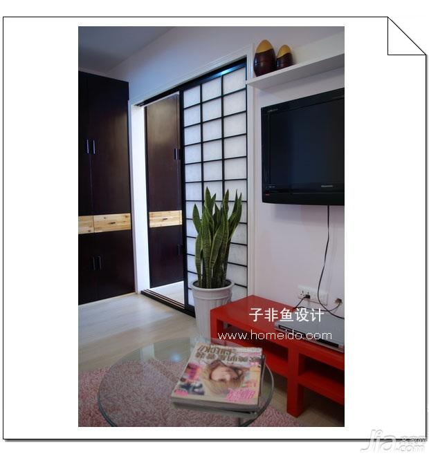 混搭风格小户型实用经济型40平米客厅电视柜图片