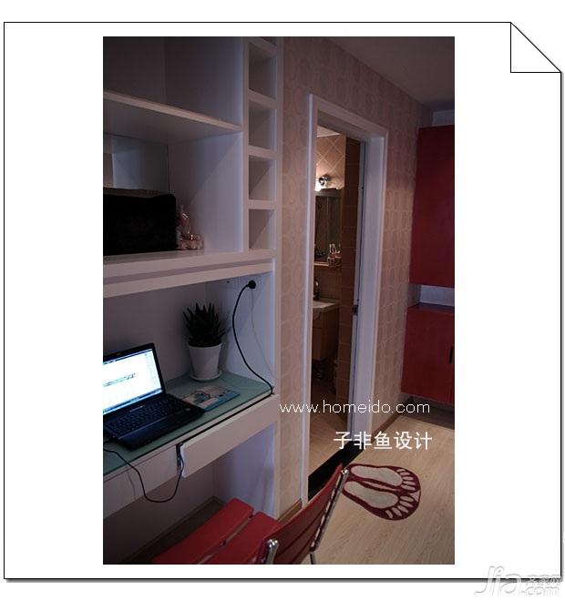 混搭风格小户型实用经济型40平米书房书桌图片