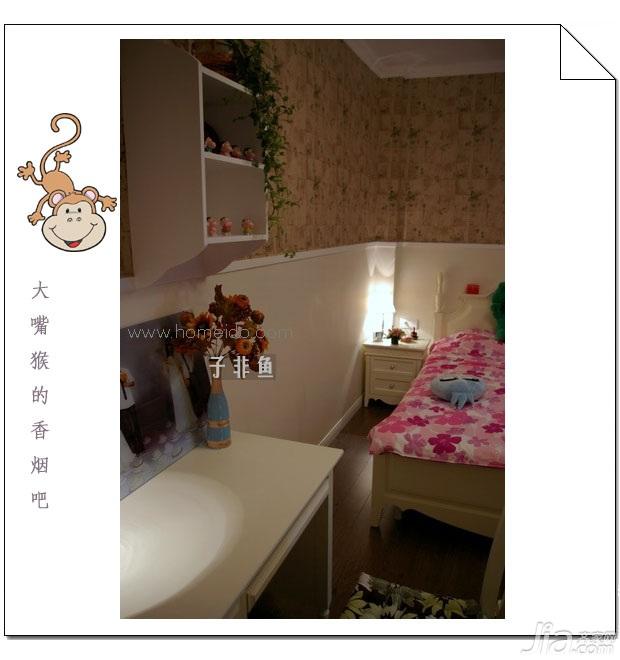 田园风格小户型浪漫经济型50平米卧室床旧房改造设计图