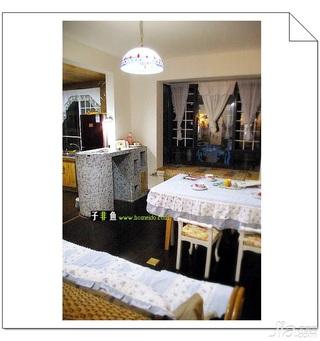 地中海风格复式富裕型140平米以上餐厅吧台餐桌效果图
