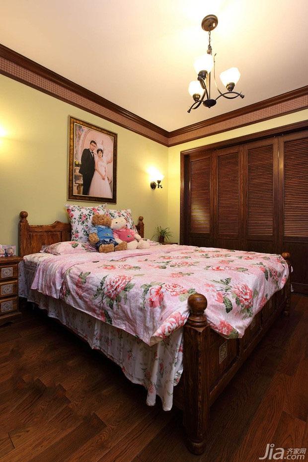 田园风格二居室经济型50平米卧室床效果图