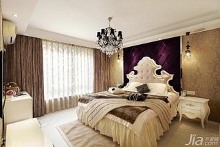 新古典风格四房富裕型140平米以上卧室卧室背景墙床效果图