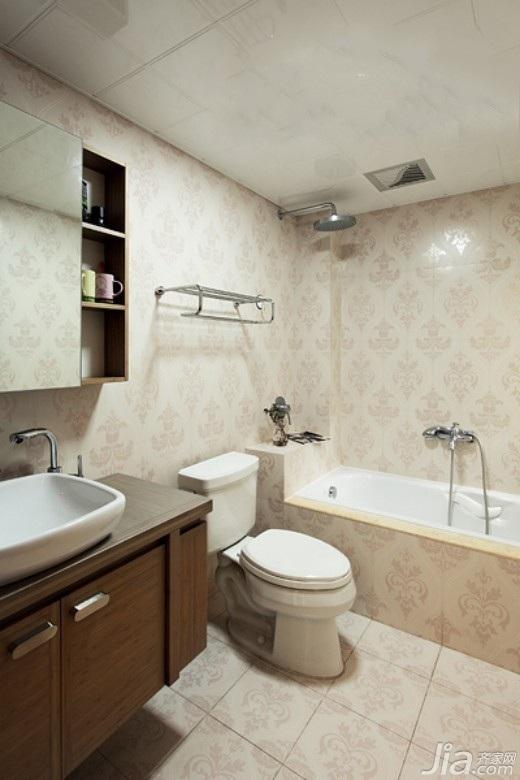 简约风格三居室富裕型130平米卫生间装修