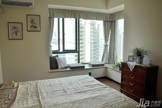 美式乡村风格一居室富裕型90平米卧室飘窗效果图