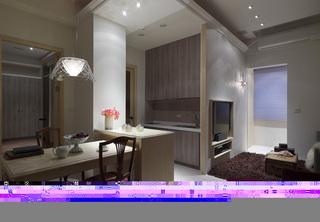 简约风格一居室富裕型80平米餐厅吊顶餐桌图片