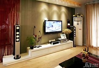 混搭风格一居室经济型60平米客厅电视背景墙电视柜效果图