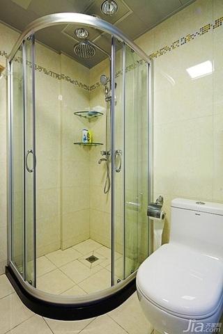 混搭风格二居室富裕型80平米卫生间婚房家装图片