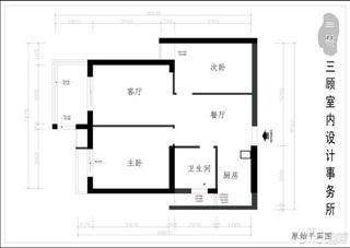 田园风格二居室10-15万80平米户型图