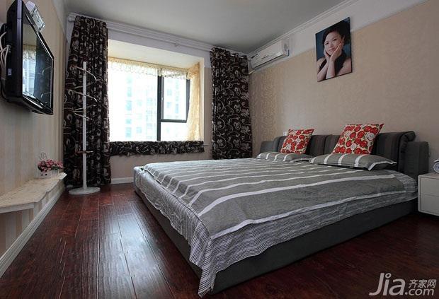 二居室富裕型130平米卧室床图片